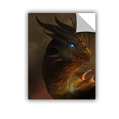 ArtWall Dragon Portrait Art Appeelz Removable Wall Art Graphic 24 x 32 (0goa054a2432p)