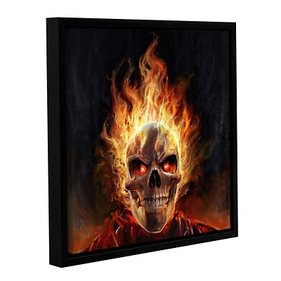 ArtWall Flaming Skull Art Appeelz Removable Wall Art Graphic 14 x 14 (0goa055a1414p)