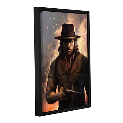 ArtWall GiveEm Hell Gallery-Wrapped Canvas 16 x 24 Floater-Framed (0goa058a1624f)