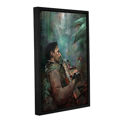 ArtWall The Hunting Of Man Gallery-Wrapped Canvas 16 x 24 Floater-Framed (0goa061a1624f)