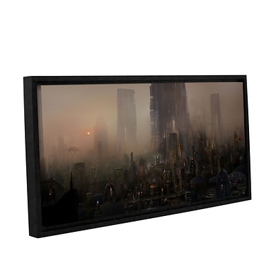 ArtWall Cohabitations Gallery-Wrapped Canvas 12 x 24 Floater-Framed (0str005a1224f)