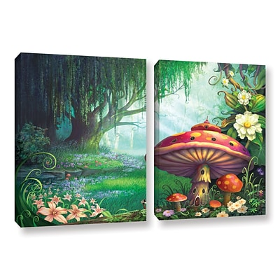 ArtWall Enchanted Forest 2-Piece Gallery-Wrapped Canvas Set 32 x 48 (0str007b3248w)