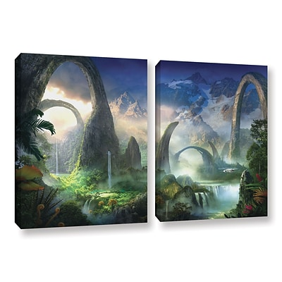 Artwall Great North Road 2-Piece Gallery-Wrapped Canvas Set 32 x 48 (0str008b3248w)