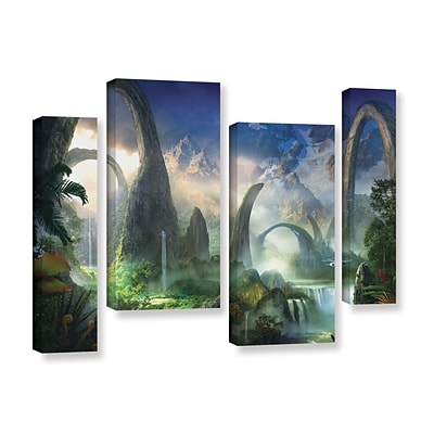 ArtWall Great North Road 4-Piece Gallery-Wrapped Canvas Staggered Set 36 x 54 (0str008i3654w)