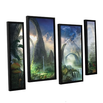 ArtWall Great North Road 4-Piece Canvas Staggered Set 36 x 54 Floater-Framed (0str008i3654f)