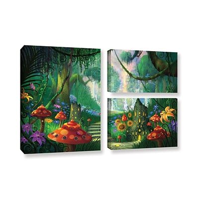 ArtWall Hidden Treasure 3-Piece Gallery-Wrapped Canvas Flag Set 24 x 36 (0str009g2436w)