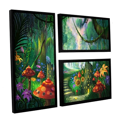 ArtWall Hidden Treasure 3-Piece Floater Framed Canvas Flag Set 24 x 36 (0str009g2436f)