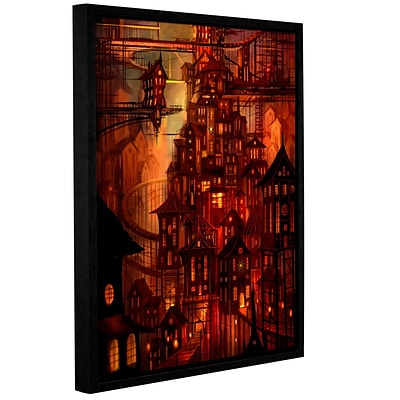 ArtWall Illuminations Gallery-Wrapped Canvas 18 x 24 Floater-Framed (0str010a1824f)