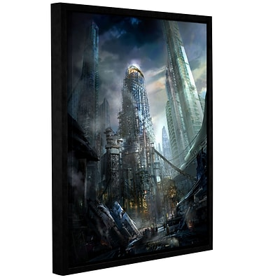 ArtWall Industrialize Gallery-Wrapped Canvas 18 x 24 Floater-Framed (0str011a1824f)