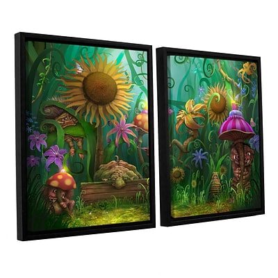 ArtWall Meet The Imaginaries 2-Piece Canvas Set 32 x 48 Floater-Framed (0str012b3248f)