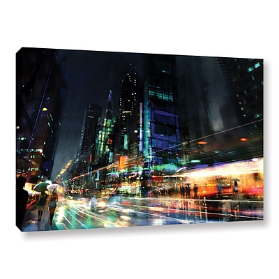 ArtWall Night City 3 Gallery-Wrapped Canvas 24 x 36 (0str013a2436w)