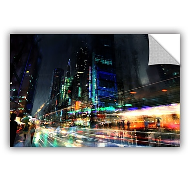 ArtWall Night City 3 Art Appeelz Removable Wall Art Graphic 16 x 24 (0str013a1624p)