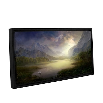 ArtWall Silent Morning Gallery-Wrapped Canvas 18 x 36 Floater-Framed (0str015a1836f)