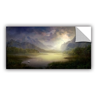 ArtWall Silent Morning Art Appeelz Removable Wall Art Graphic 18 x 36 (0str015a1836p)