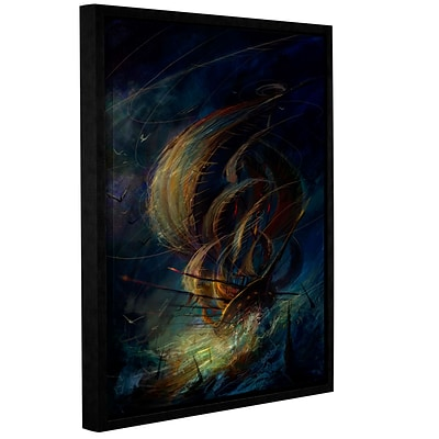 ArtWall The Apparition Gallery-Wrapped Canvas 14 x 18 Floater-Framed (0str016a1418f)