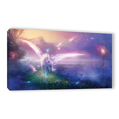 ArtWall Winter Dawn Gallery-Wrapped Canvas 18 x 36 (0str019a1836w)