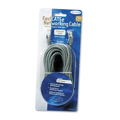 Belkin® 25 RJ45 FastCAT™ 5E Patch Cable, Grey