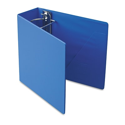 Cardinal® Super-Strength™ Slant-D® Locking 4 D-Ring Binder, Non-View, Blue, 3-Ring