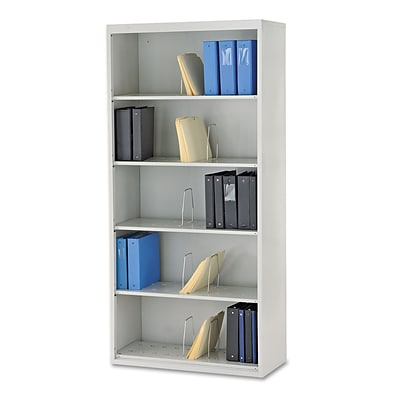 Hon® Brigade® 600 Series 5-Shelf Open Shelving Lateral File Cabinet, Light Gray, Legal (J625CNQ)