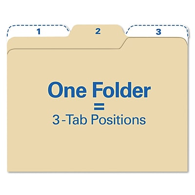 Find It™ All Tab File Folders, Letter, Manila, 80/Pack (FT07046)