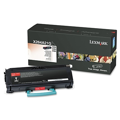 Lexmark™ X264A21G Toner, 3500 Page-Yield, Black