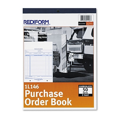 Purchase Order Book, 2 Parts, Carbonless, 8 1/2 x 11