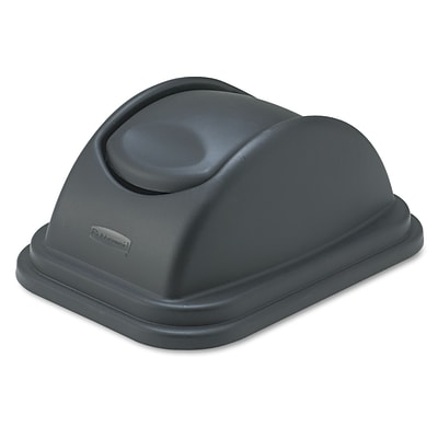 Rubbermaid® Commercial Rectangular Free-Swinging Lids, Black (FG306700BLA)
