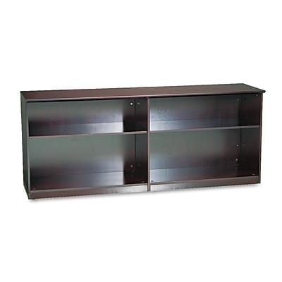 Mayline® 29 1/2 Low Wall Cabinet Without Doors, Mahogany