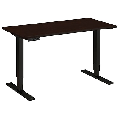 Bush Business 48W x 24D Height Adjustable Standing Desk, Mocha Cherry Satin with Black Base