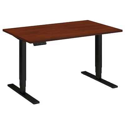 Move 80 Series by Bush Business Furniture 48W x 30D Height Adjustable Standing Desk, Hansen Cherry, Installed (HAT4830HCBKFA)