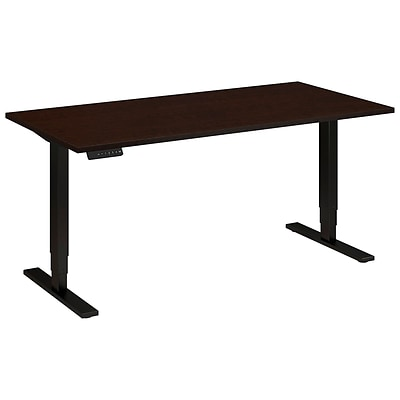 Bush Business 60W x 30D Height Adjustable Standing Desk, Mocha Cherry Satin with Black Base