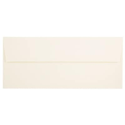 JAM Paper® #10 Business Envelopes, 4 1/8 x 9 1/2, Strathmore Natural White Linen, 50/pack (191170I)