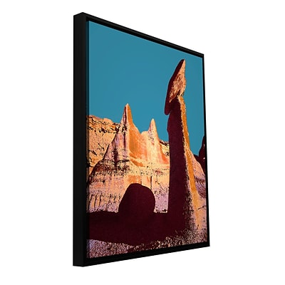 ArtWall Bisti Badland Gallery-Wrapped Canvas 36 x 48 Floater-Framed (0uhl105a3648f)