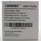 Corning Plain Microscope Slide, 75 x 50 mm, 5/Pack