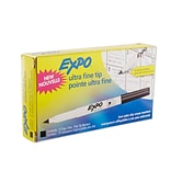Expo® Low Odor Dry Erase Markers; Ultra Fine, Black, 1/Dz