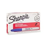 Sharpie® Fine Point Permanent Markers, Blue, 12/pk (30003)