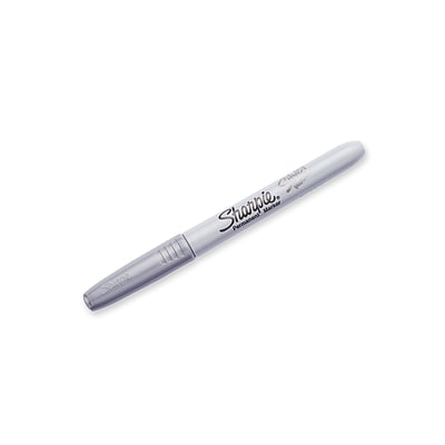 Sharpie® Metallic Fine Point Permanent Markers, Silver, 48/Ct (39109PPCS)