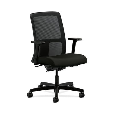 HON® Ignition® Mesh Low-Back Office/Computer Chair, Synchro-Tilt, Tectonic Black Fabric