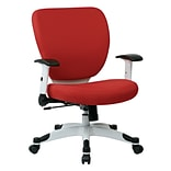 Office Star Space Seating Pulsar White Finish Frame Managers Chair, Dove Rouge Fabric