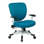 Office Star Space Seating Pulsar White Finish Frame Managers Chair, Blue Fabric