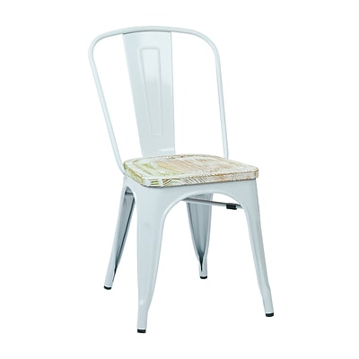OSP Designs Bristow Metal & Wood Chair, Pine Irish