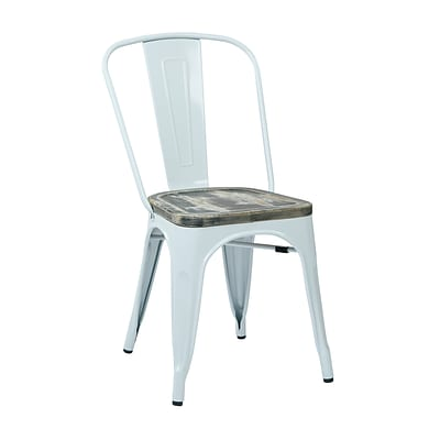 OSP Designs Bristow Metal & Wood Chair, Ash Crazy Horse