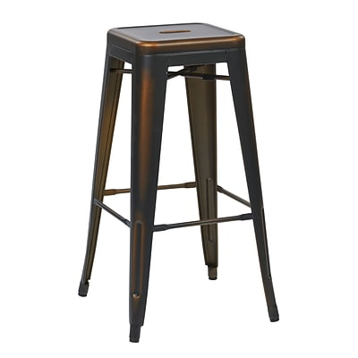 OSP Designs Bristow Antique Metal Barstool, Antique Copper