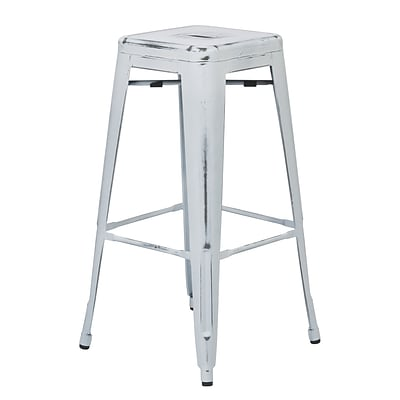OSP Designs Bristow 30-inch Metal Barstool, Antique White