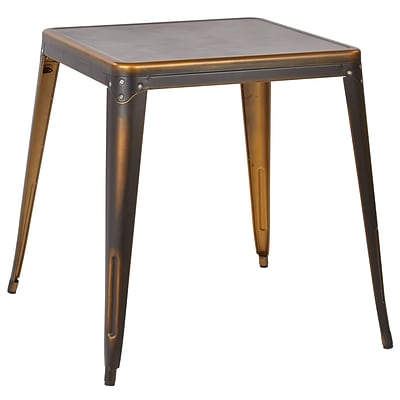 OSP Designs Metal Bristow Table, Antique Copper