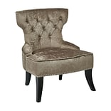 Ave Six Colton Vintage Velvet Polyester; Fabric & Wood Tufted Side Chair, Brilliance Otter