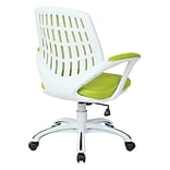 Ave Six Calvin Office Metal, Plastic & Polyester Chair, Green