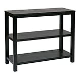 Ave Six Wood Merge Foyer Table, Black