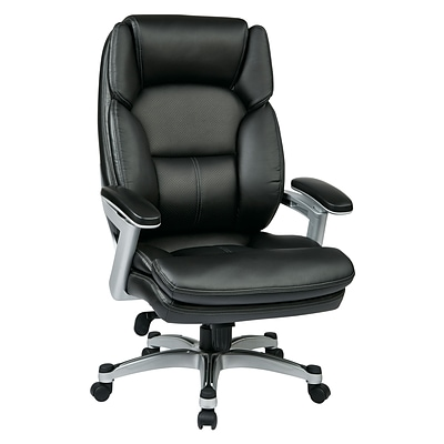 Work Smart Eco Metal; Plastic & Polyester Executive Chair, Silver & Black