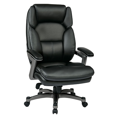 Work Smart Eco Metal; Plastic & Polyester Executive Chair, Titanium & Black